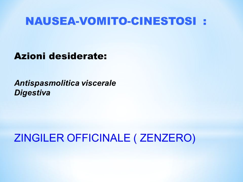 NAUSEA-VOMITO-CINESTOSI :