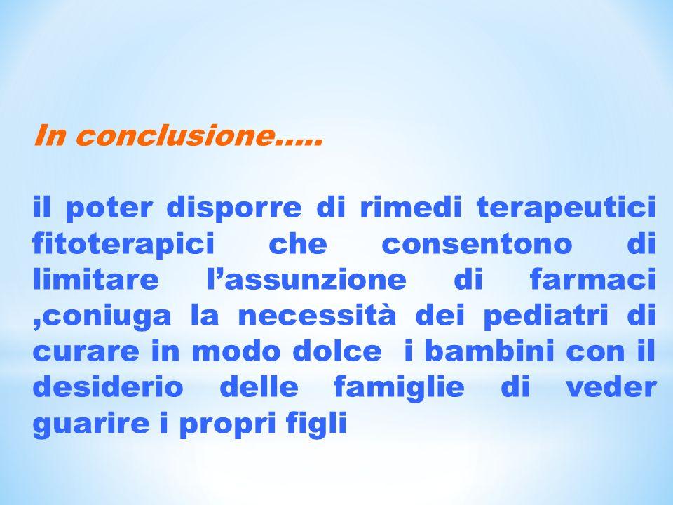 In conclusione…..