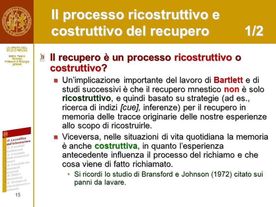 Il processo ricostruttivo e costruttivo del recupero 1/2