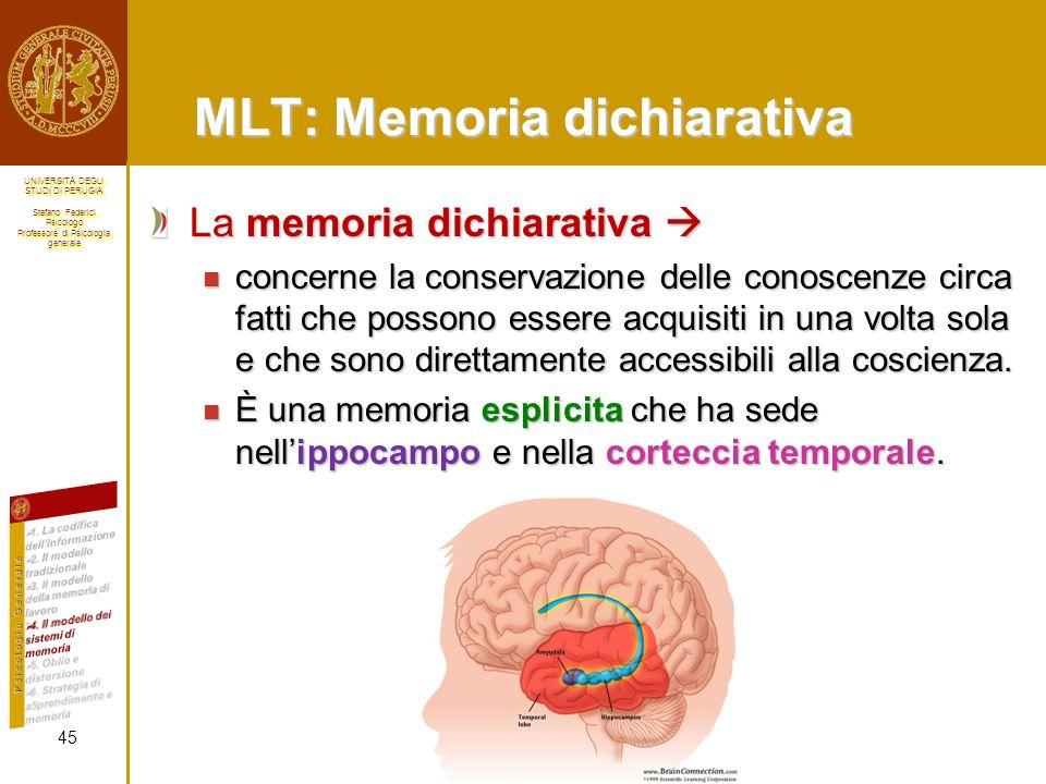 MLT: Memoria dichiarativa