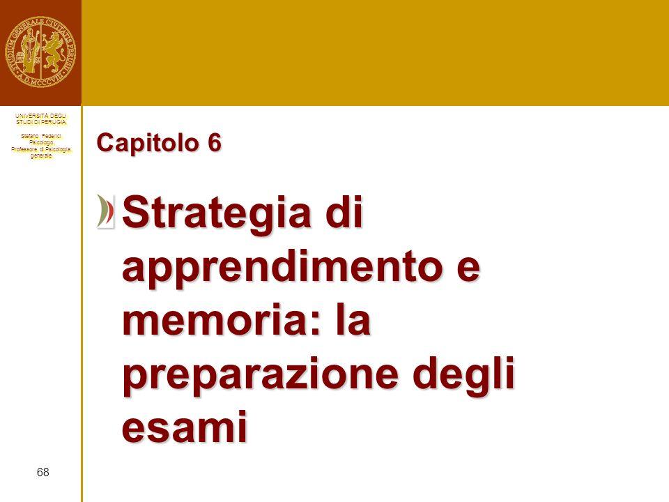 Strategia di apprendimento e memoria: la preparazione degli esami