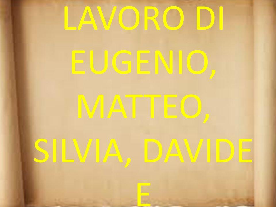 LAVORO DI EUGENIO, MATTEO, SILVIA, DAVIDE E ALESSANDRO.