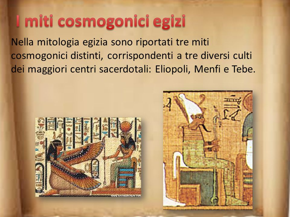 I miti cosmogonici egizi