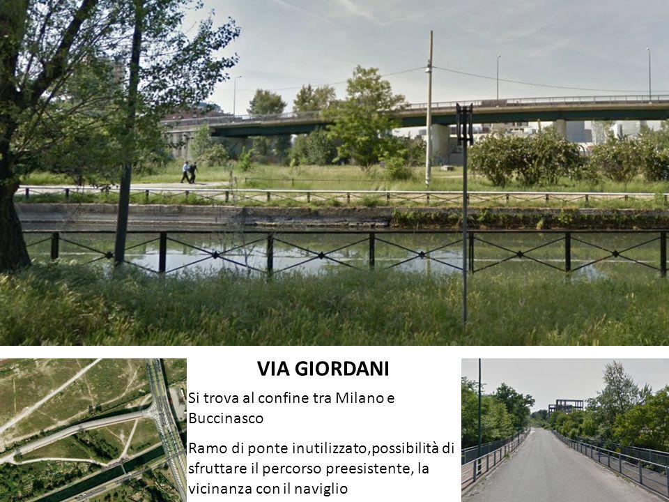 VIA GIORDANI Si trova al confine tra Milano e Buccinasco