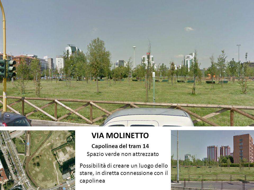 VIA MOLINETTO Capolinea del tram 14 Spazio verde non attrezzato