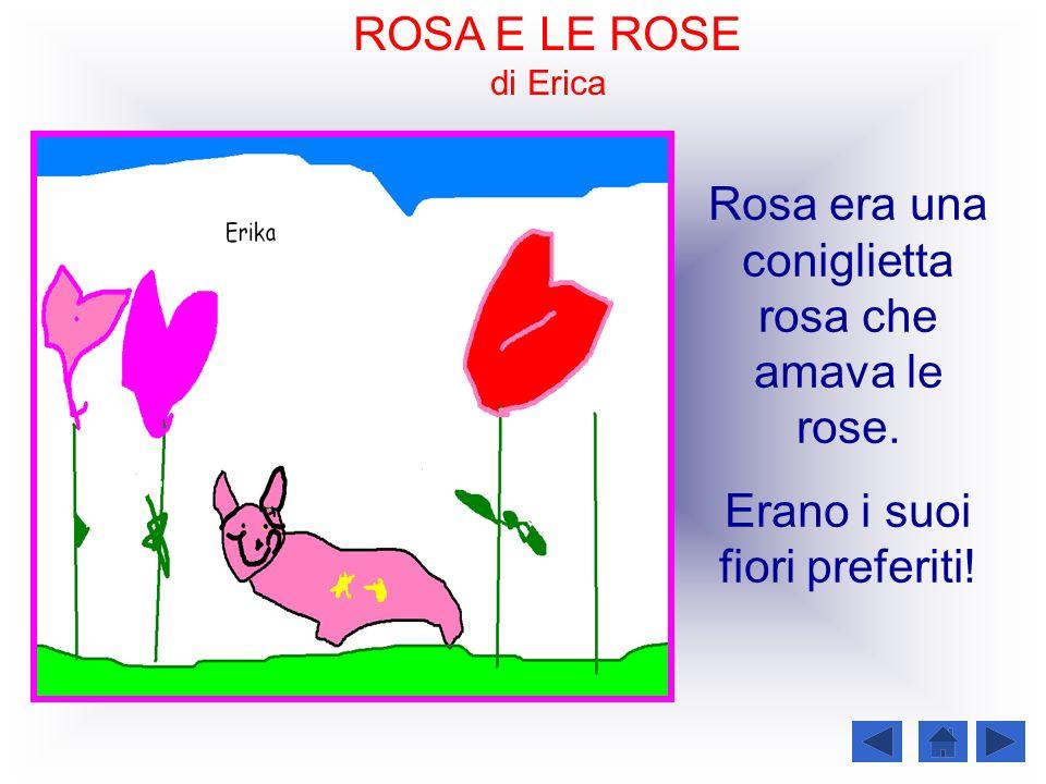 Rosa era una coniglietta rosa che amava le rose.