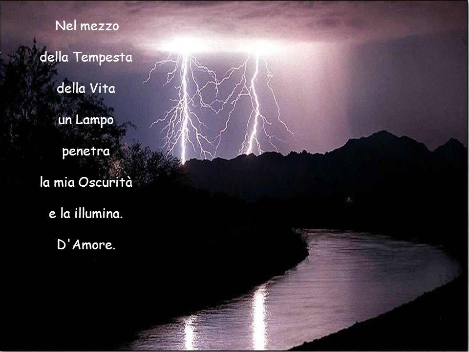 della Tempesta della Vita un Lampo penetra la mia Oscurità