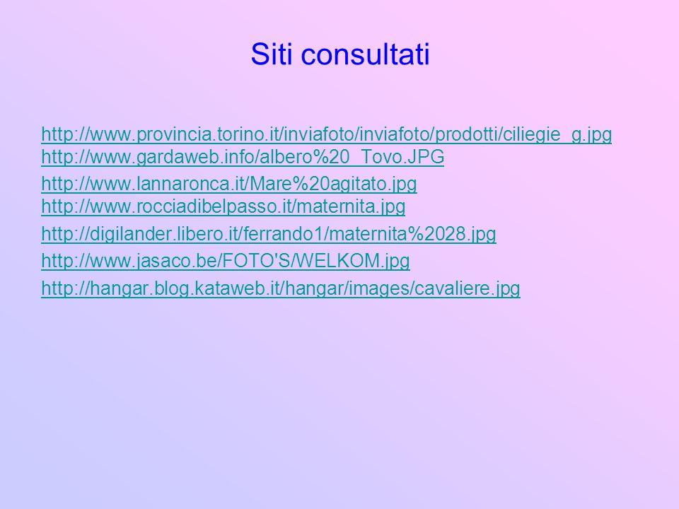 Siti consultati http://www.provincia.torino.it/inviafoto/inviafoto/prodotti/ciliegie_g.jpg. http://www.gardaweb.info/albero%20_Tovo.JPG.