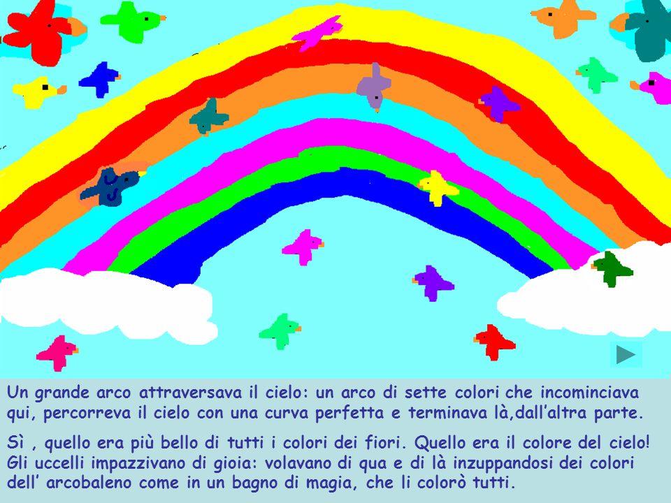 Un grande arco attraversava il cielo: un arco di sette colori che incominciava qui, percorreva il cielo con una curva perfetta e terminava là,dall'altra parte.