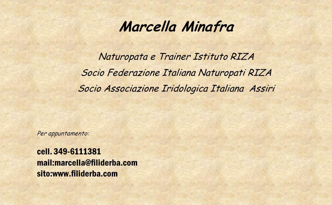 Marcella Minafra Naturopata e Trainer Istituto RIZA