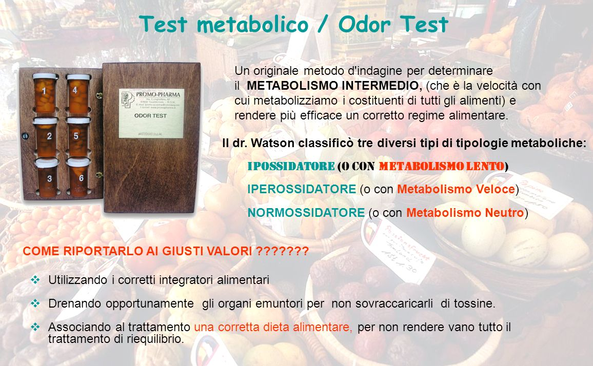 Test metabolico / Odor Test