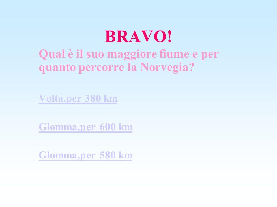 BRAVO! Qual è il suo maggiore fiume e per quanto percorre la Norvegia
