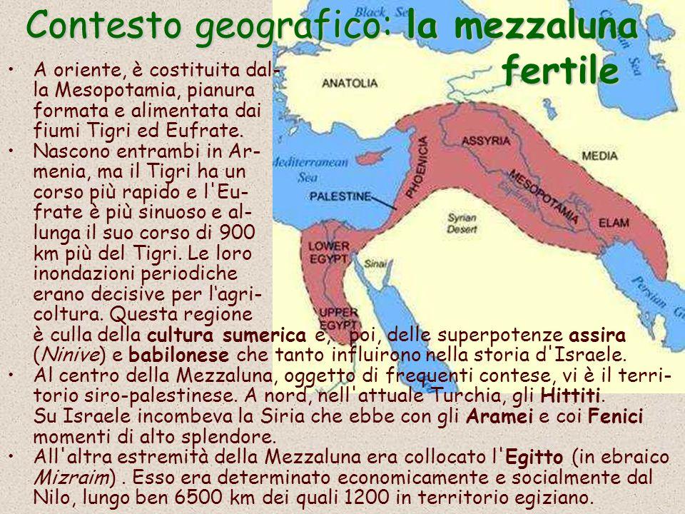 Contesto geografico: la mezzaluna fertile