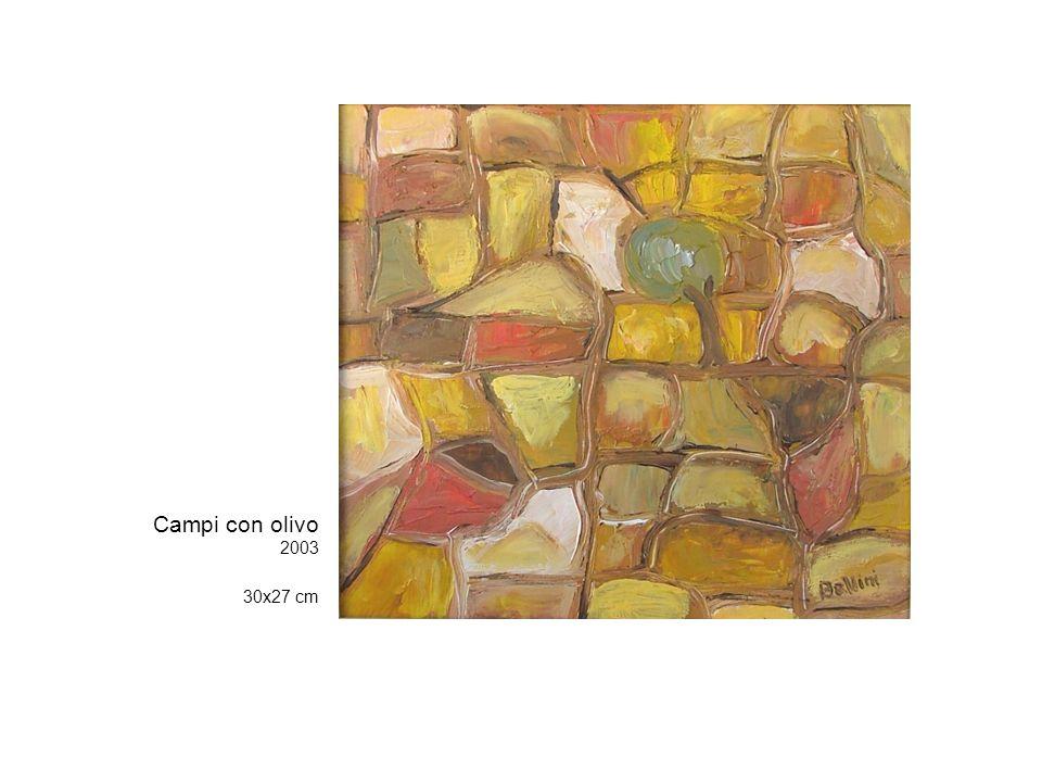 Campi con olivo 2003 30x27 cm