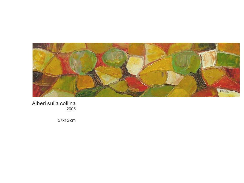 Alberi sulla collina 2005 57x15 cm