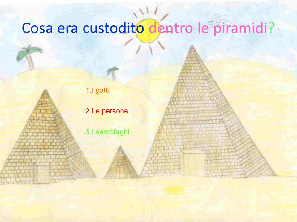 Cosa era custodito dentro le piramidi