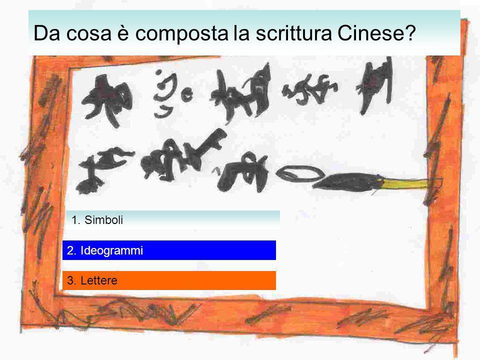 Da cosa è composta la scrittura Cinese