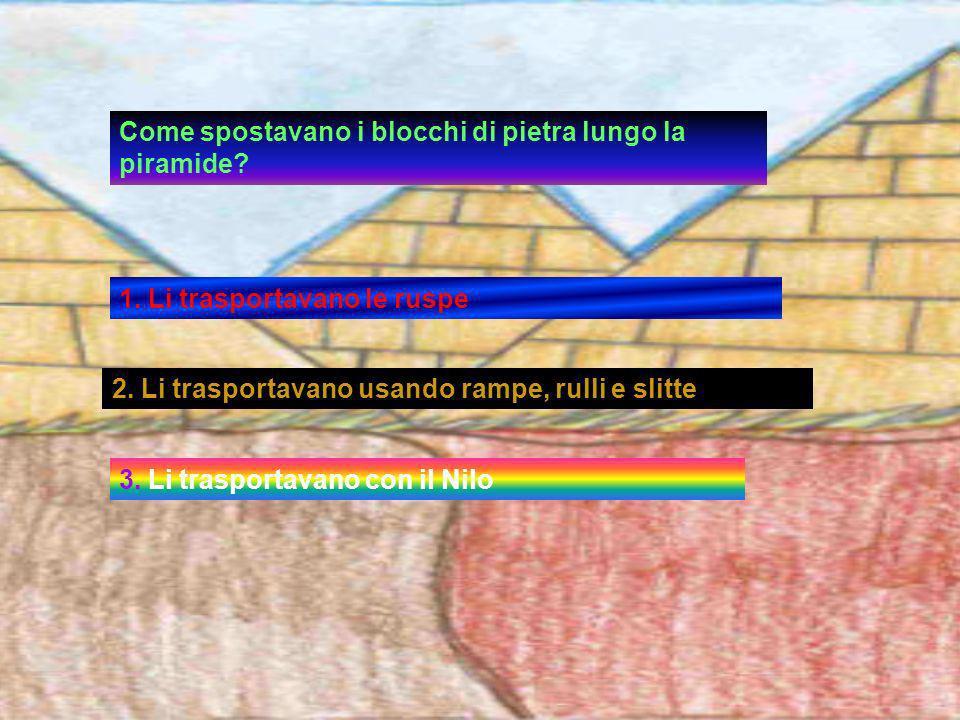 Come spostavano i blocchi di pietra lungo la piramide