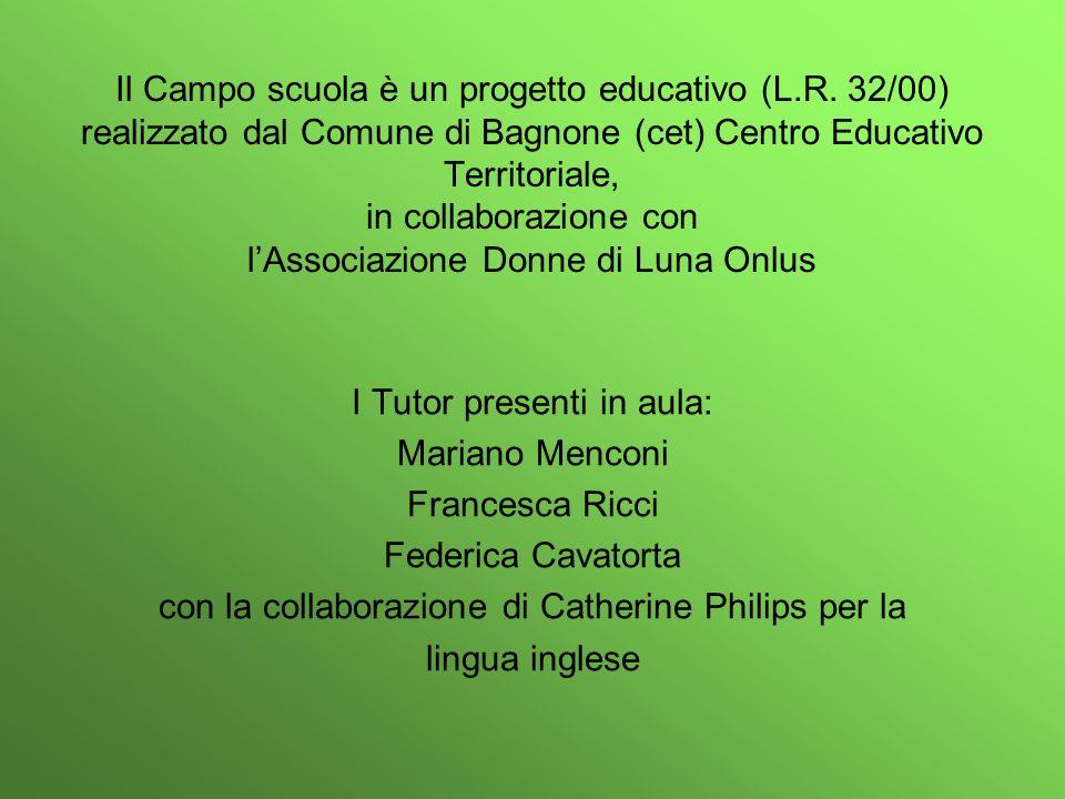 I Tutor presenti in aula: Mariano Menconi Francesca Ricci