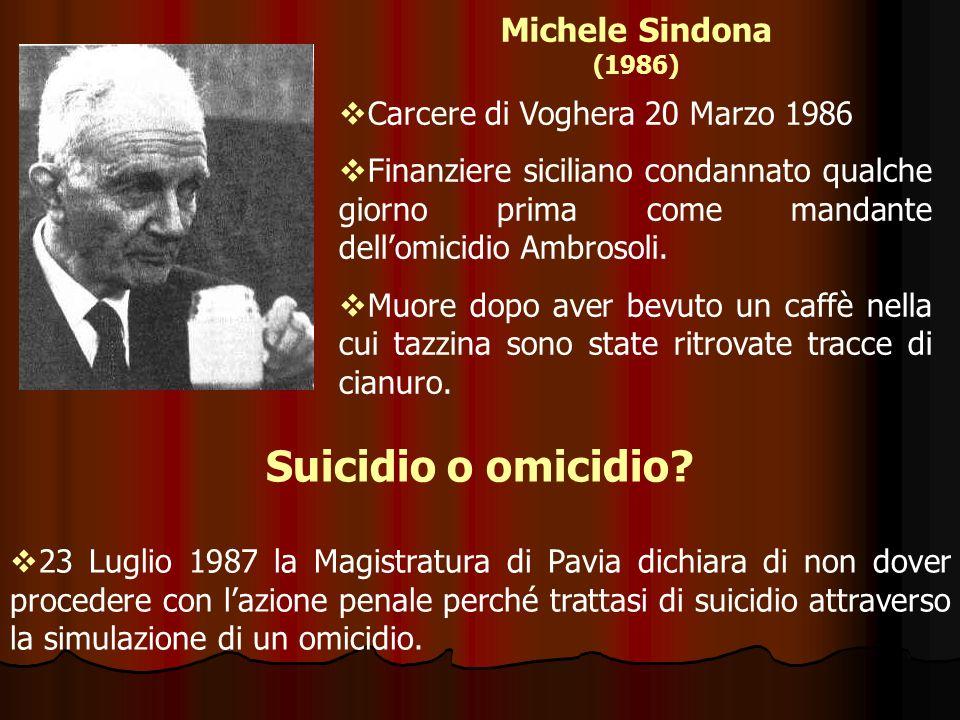 Suicidio o omicidio Michele Sindona (1986)