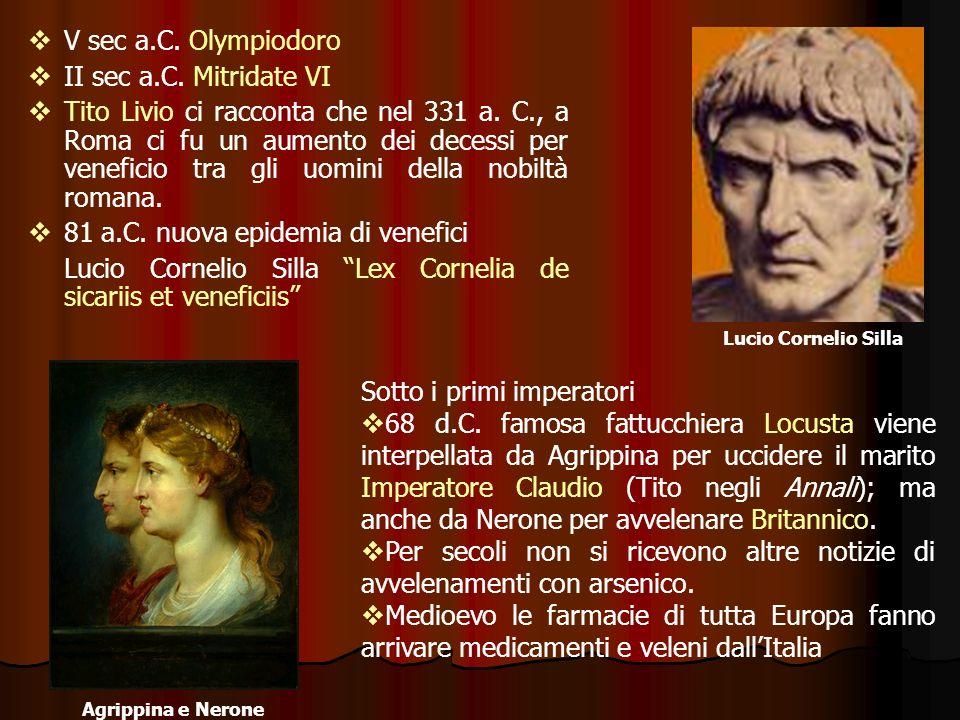 81 a.C. nuova epidemia di venefici