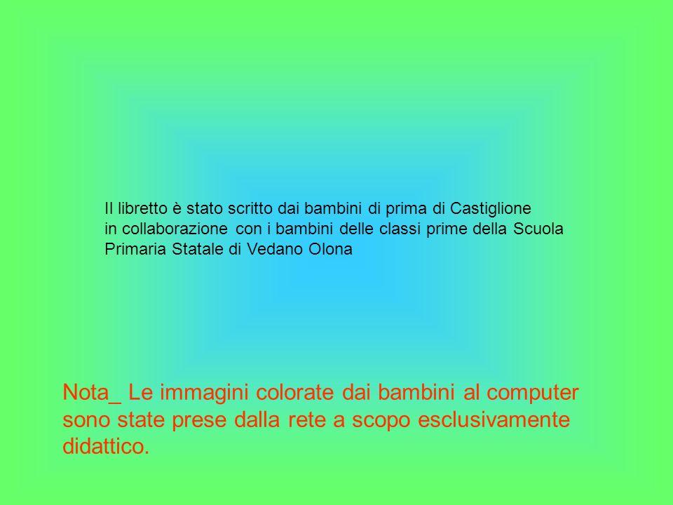 Il libretto è stato scritto dai bambini di prima di Castiglione
