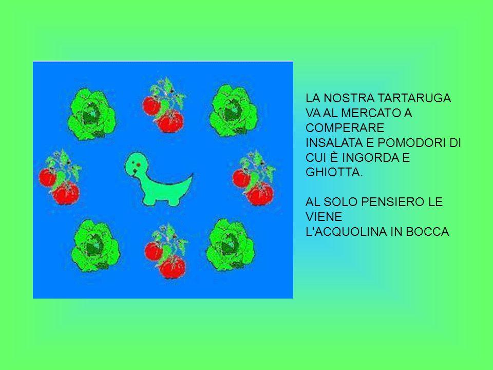 LA NOSTRA TARTARUGA VA AL MERCATO A COMPERARE