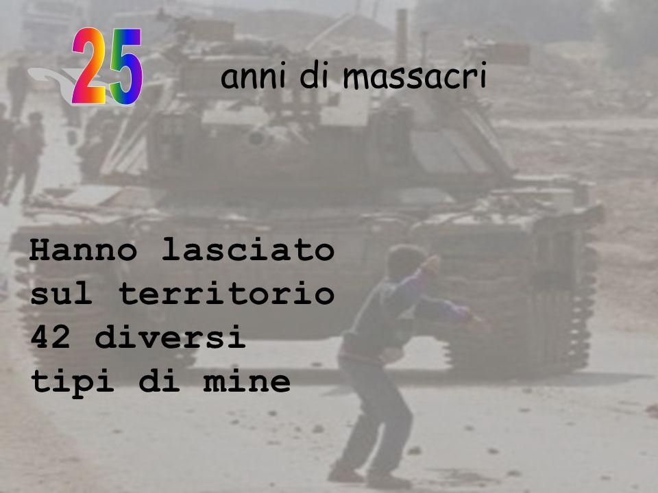 25 anni di massacri Hanno lasciato sul territorio 42 diversi tipi di mine