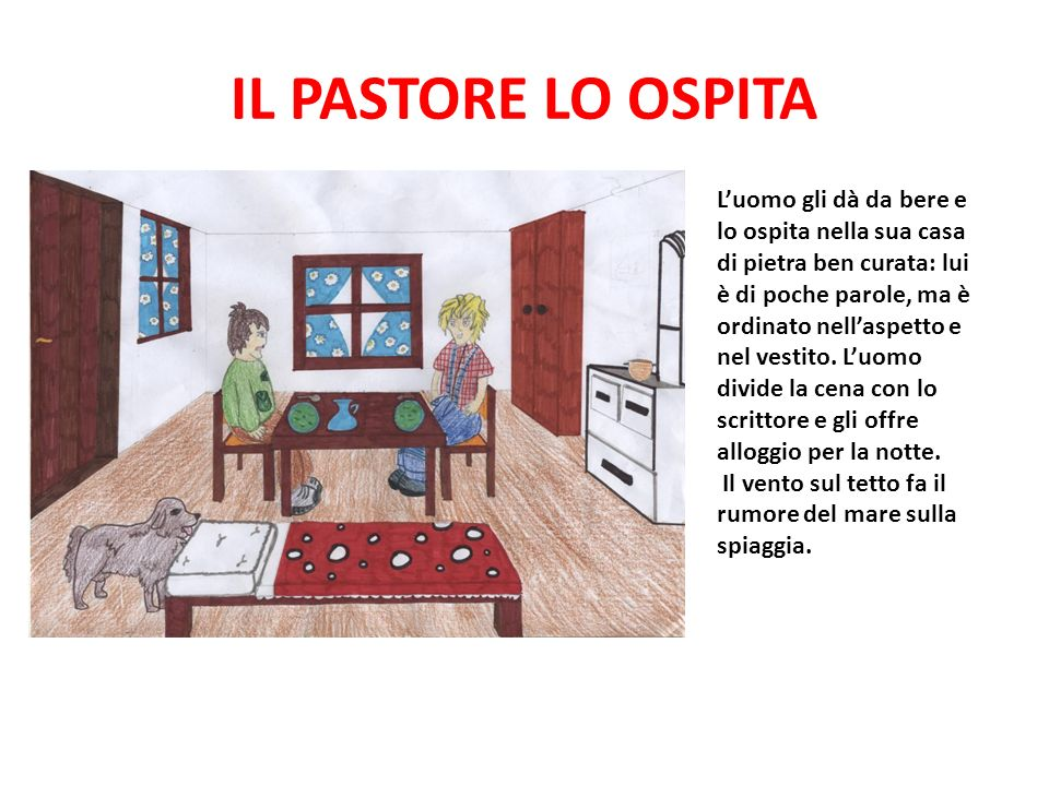 IL PASTORE LO OSPITA