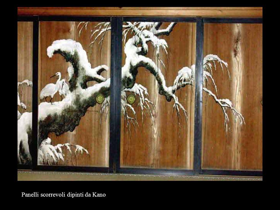 Panelli scorrevoli dipinti da Kano