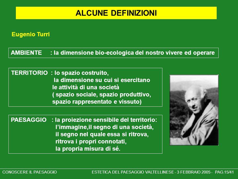 ALCUNE DEFINIZIONI Eugenio Turri