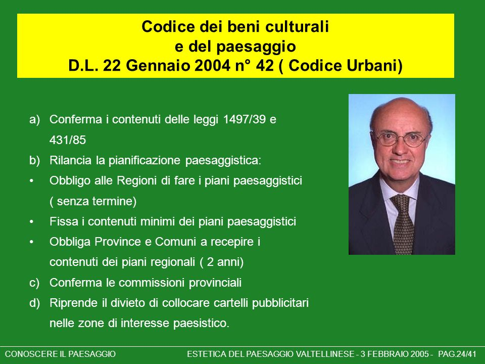 Codice dei beni culturali e del paesaggio D. L