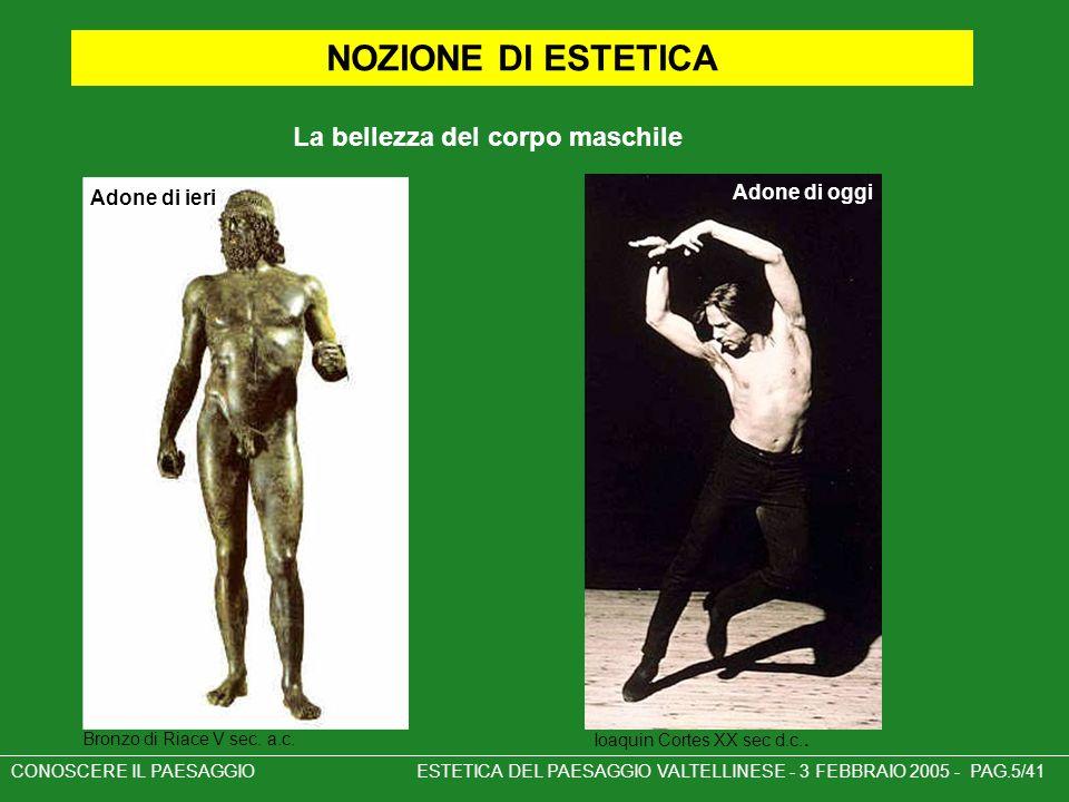 NOZIONE DI ESTETICA La bellezza del corpo maschile Adone di ieri