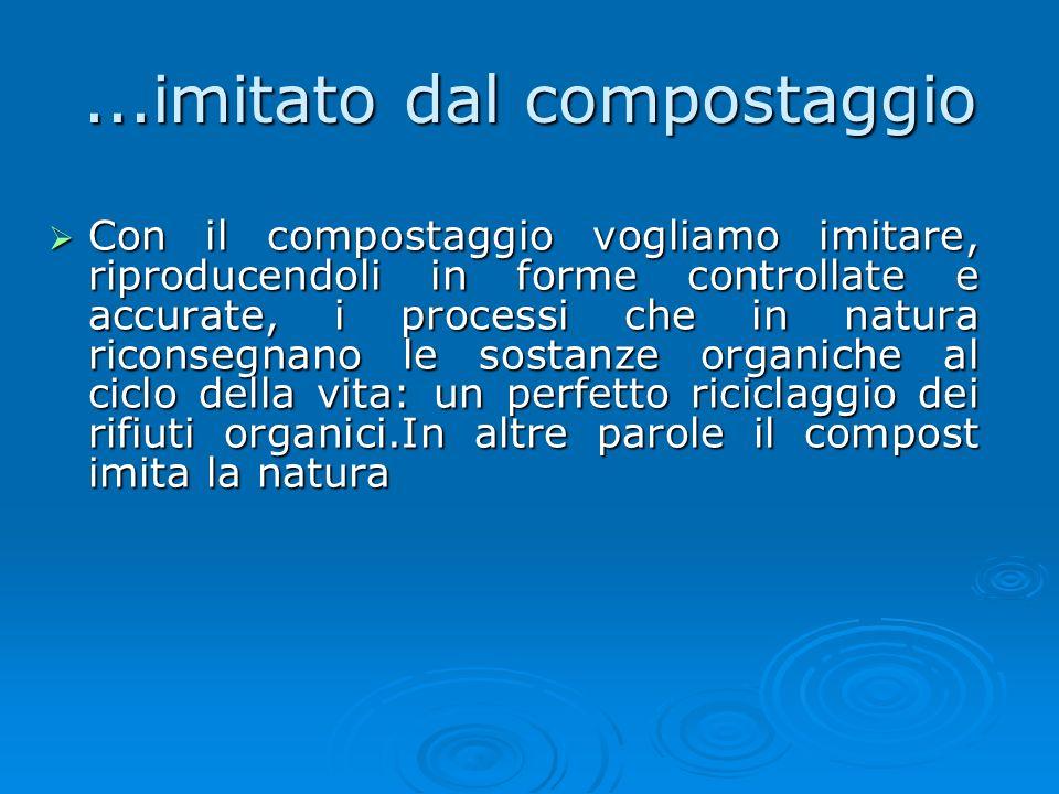 ...imitato dal compostaggio