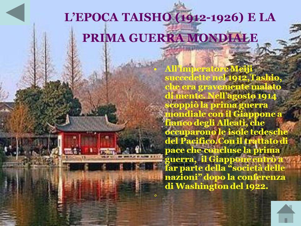 L'EPOCA TAISHO (1912-1926) E LA PRIMA GUERRA MONDIALE