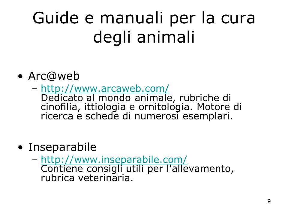 Guide e manuali per la cura degli animali