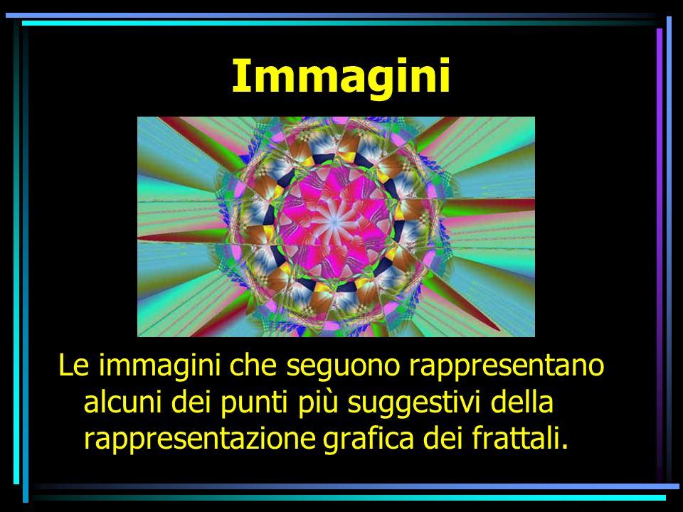 Immagini Le immagini che seguono rappresentano alcuni dei punti più suggestivi della rappresentazione grafica dei frattali.