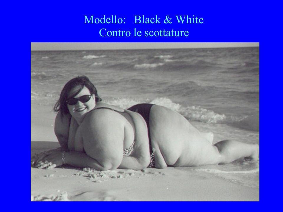 Modello: Black & White Contro le scottature