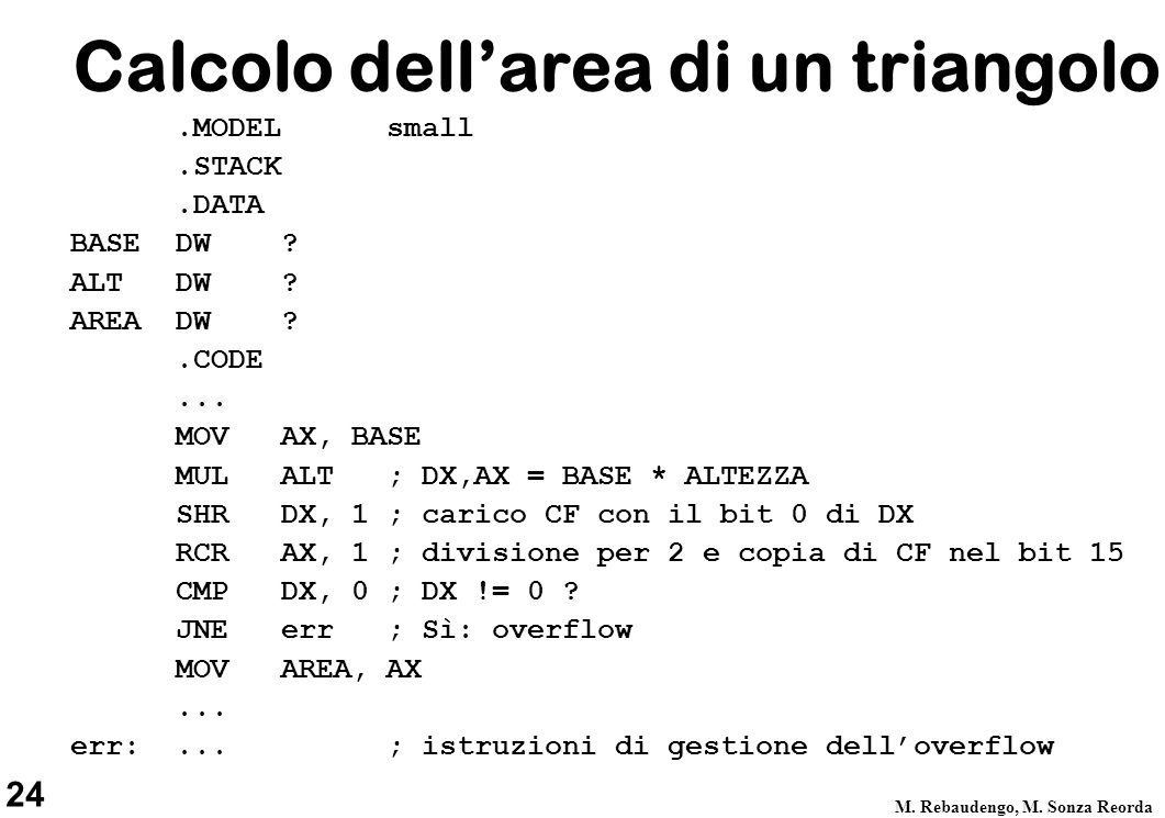 Calcolo dell'area di un triangolo