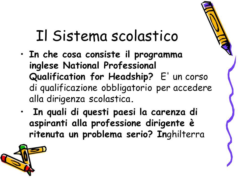 Il Sistema scolastico
