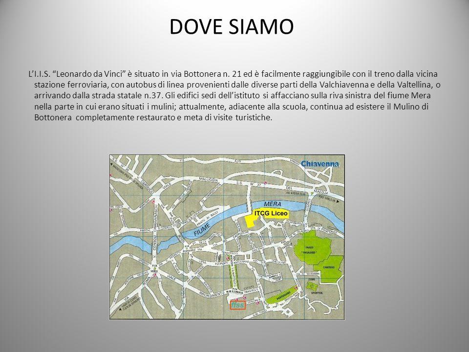 DOVE SIAMO L'I. I. S. Leonardo da Vinci è situato in via Bottonera n