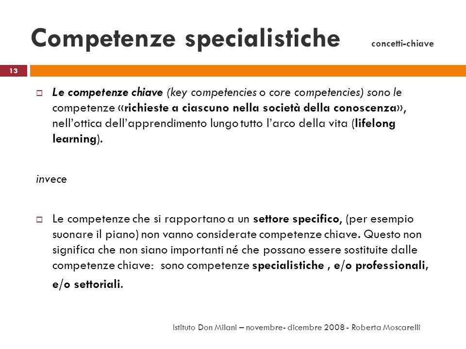 Competenze specialistiche concetti-chiave