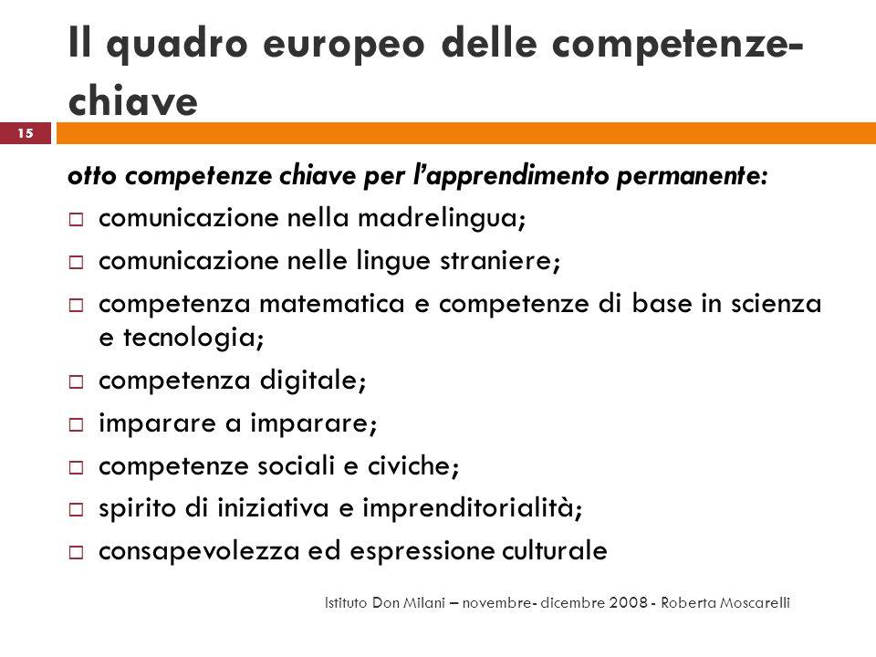 Il quadro europeo delle competenze-chiave