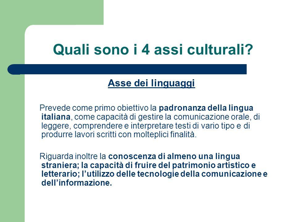 Quali sono i 4 assi culturali