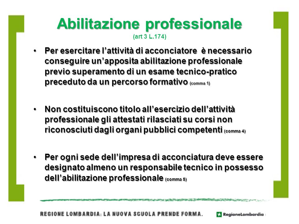 Abilitazione professionale (art 3 L.174)