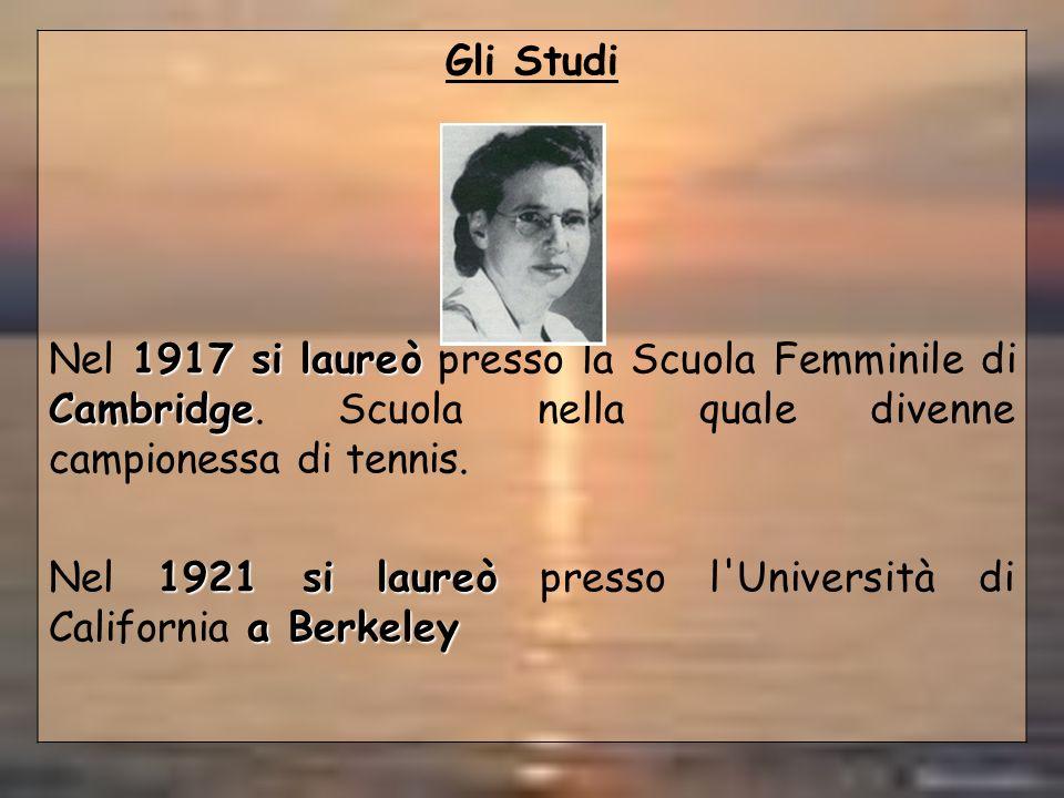 Nel 1921 si laureò presso l Università di California a Berkeley