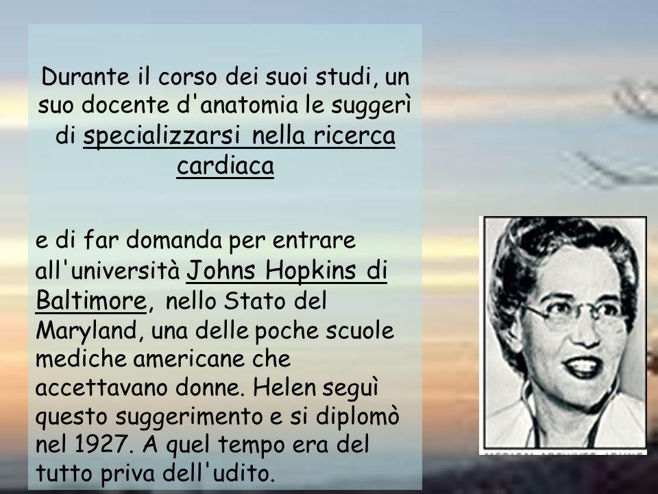 Durante il corso dei suoi studi, un suo docente d anatomia le suggerì di specializzarsi nella ricerca cardiaca