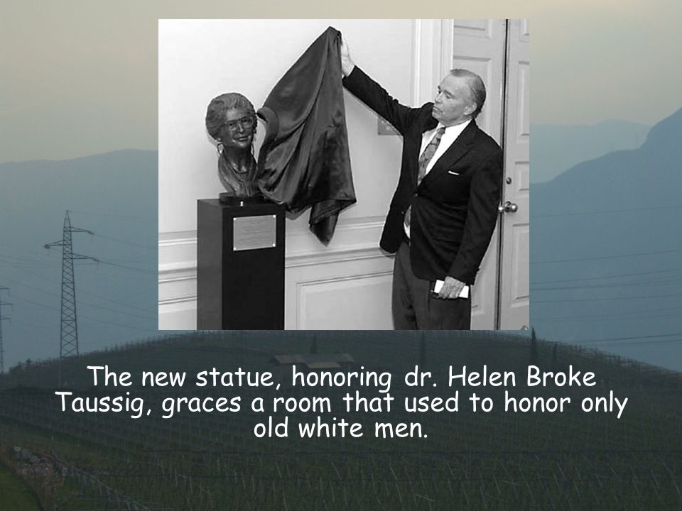 The new statue, honoring dr