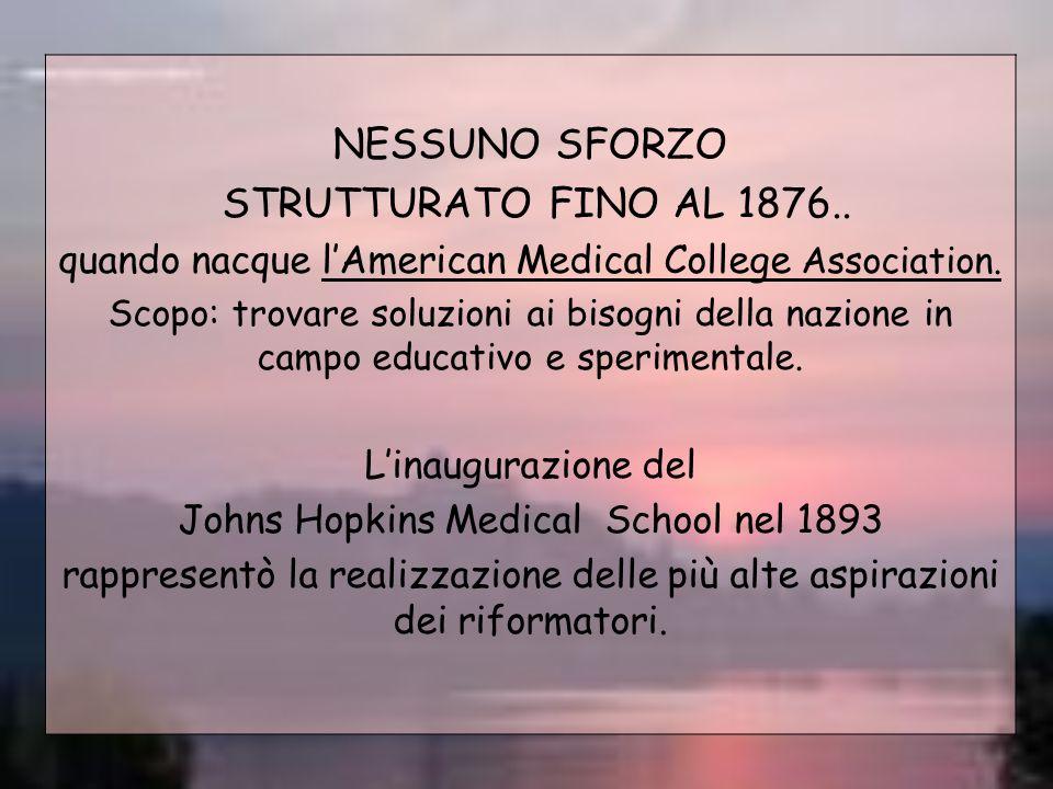 NESSUNO SFORZO STRUTTURATO FINO AL 1876..