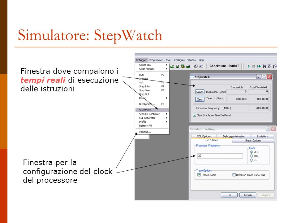 Simulatore: StepWatch